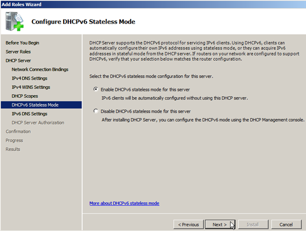 Install DHCP Role on Windows Server 2008 - 9