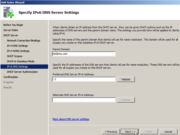 Install DHCP Role on Windows Server 2008 - 10