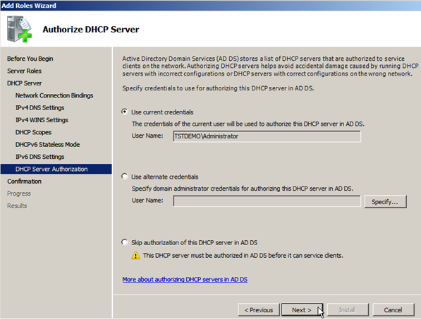 Install DHCP Role on Windows Server 2008 - 11