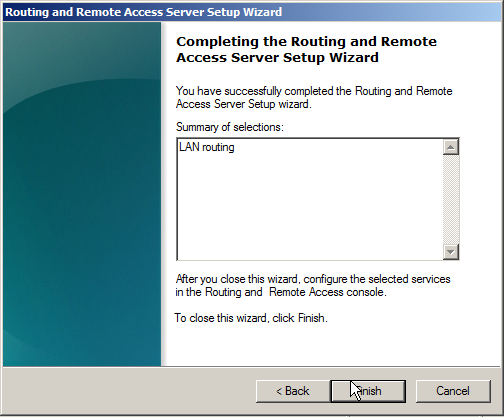 Windows Server 2008 as a LAN Router Running RIP - 14