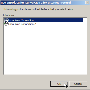 Windows Server 2008 as a LAN Router Running RIP - 19