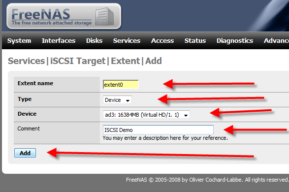 How to Setup iSCSI Drive Using FreeNAS - 7