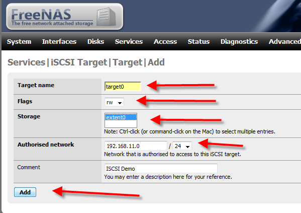 How to Setup iSCSI Drive Using FreeNAS - 10