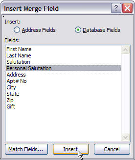 Merging for Dummies: Creating Mail Merge Letters in Word 2007 - 18