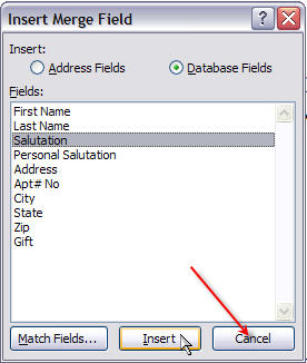 Merging for Dummies: Creating Mail Merge Letters in Word 2007 - 21