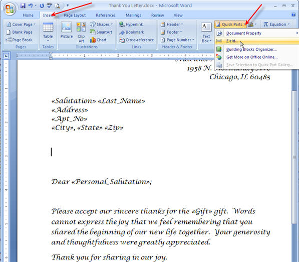 Merging for Dummies: Creating Mail Merge Letters in Word 2007 - 39
