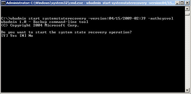 How to Backup and Restore Active Directory on Server 2008 - 10