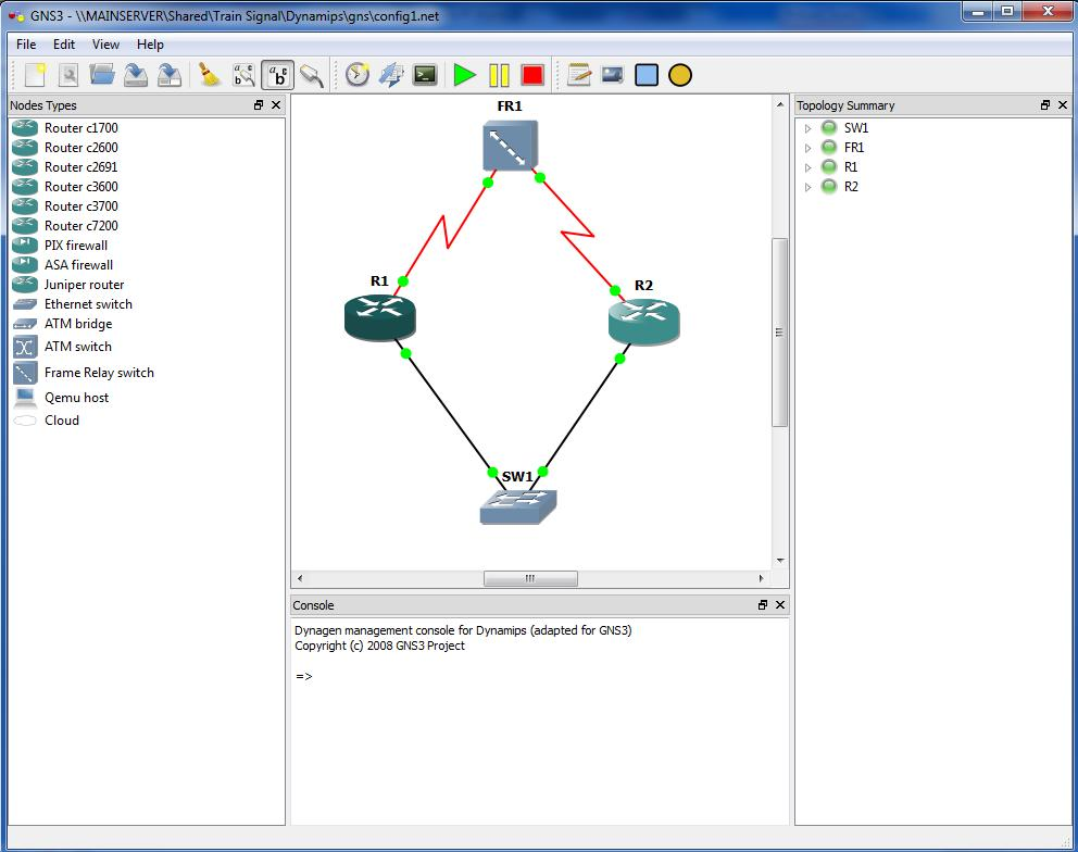 GNS3 - Shot - 2 Router simple Frame-Ethernet Lab - 1