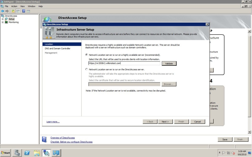 Windows Server 2008 DirectAccess Configuration