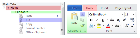 Customization Interface vs. Ribbon Interface