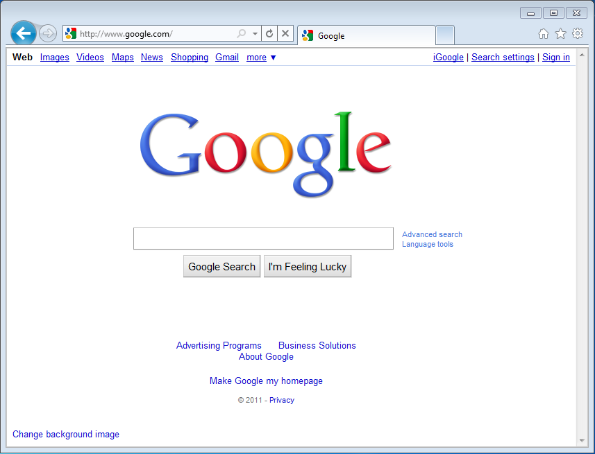 Internet Explorer 9 Interface