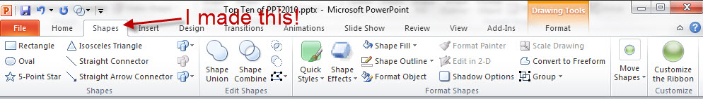Customize the Ribbon in PowerPoint 2010