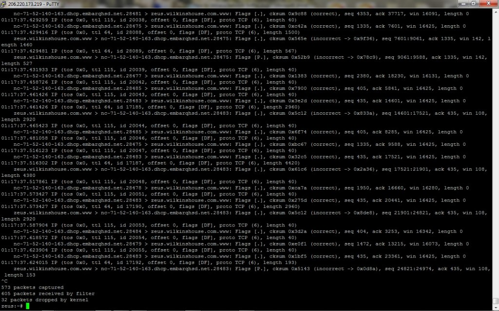 tcpdump Capture