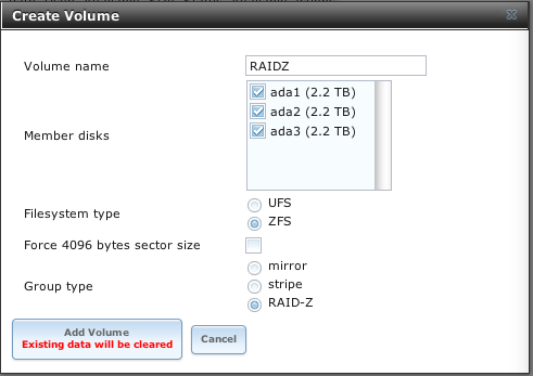 Building ZFS Based Network Attached Storage Using FreeNAS 8