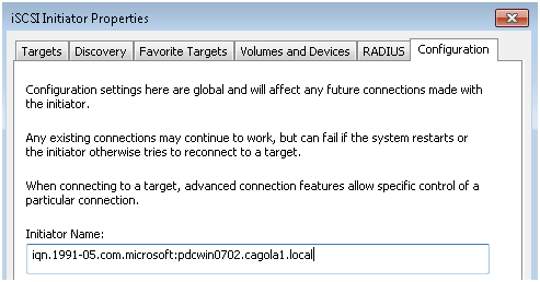 Getting Familiar with iSCSI Part 2: Configuring the Microsoft iSCSI