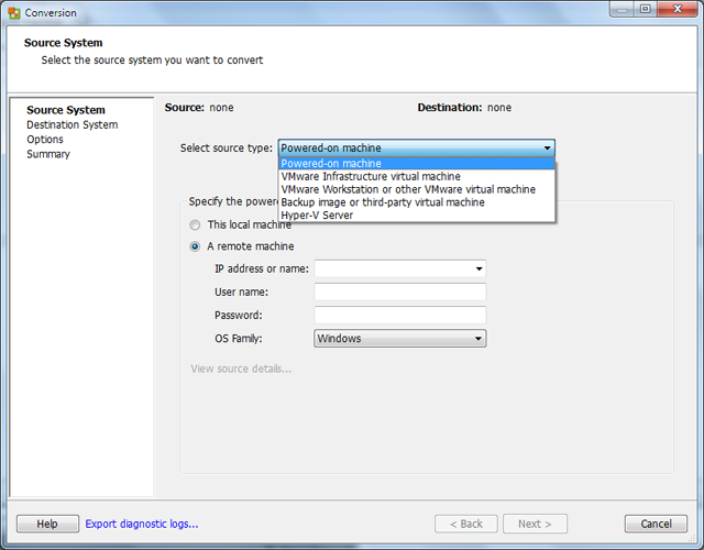 VMware P2V Migration: Importing Virtual Machines into VMware