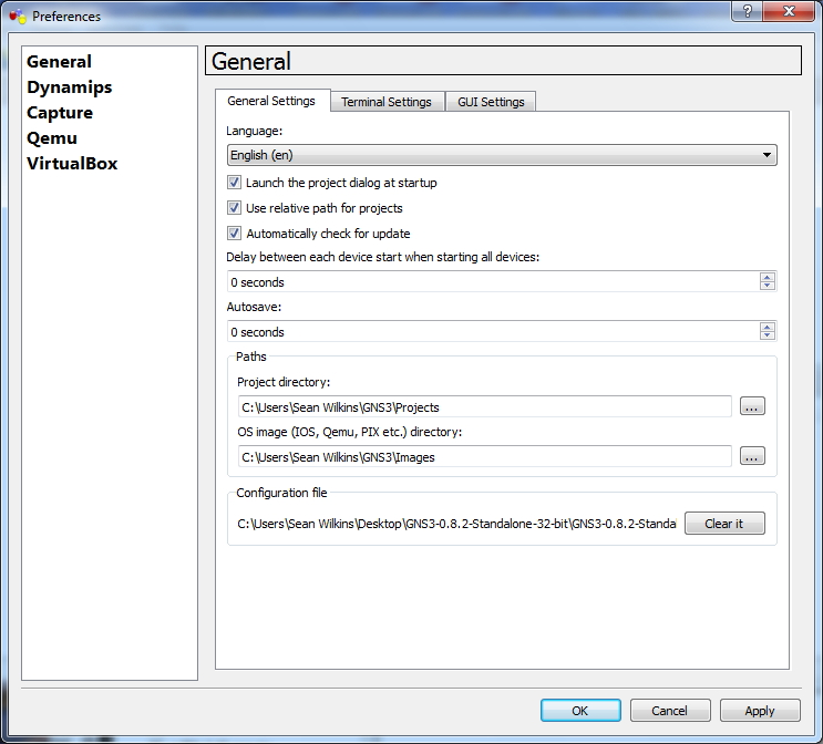GNS3 Initial Configuration | Pluralsight