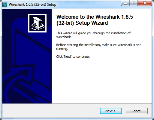 Wireshark Installer Setup Wizard Screen