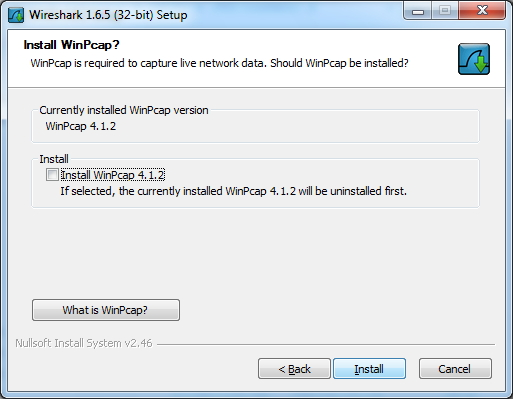 Install WinPCap (Wireshark Installer)