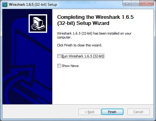 Completing the Wireshark Installation