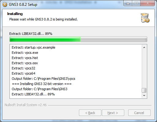 GNS3 Installation Proceeding