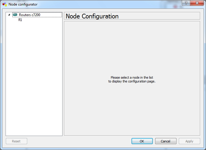 Node Configuration Window