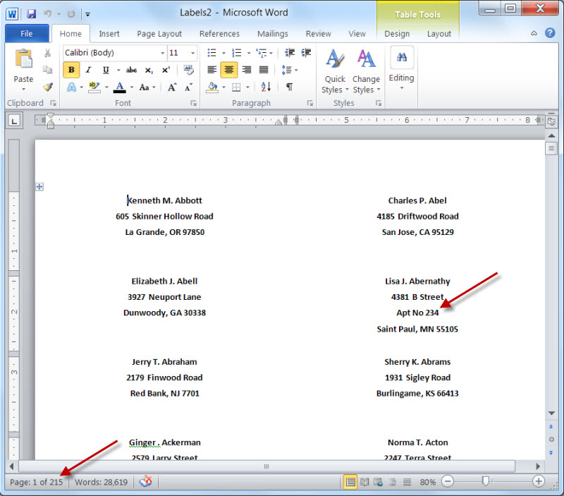 Mail Merge For Dummies: Creating Address Labels Using Word And