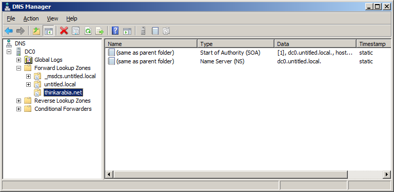 Step 0 Create a new DNS zone 2