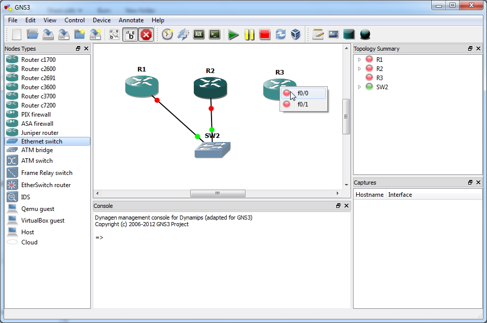 Emulated Ethernet Switch Functionality: GNS3 Lab Configuration