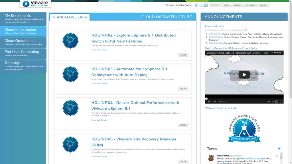 First Look: VMware Hands-on Labs Online Public Beta | Pluralsight