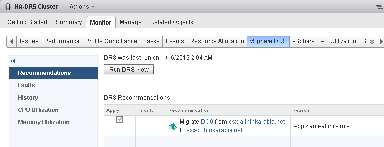 How to Configure VMware Affinity Rules for DRS and Storage