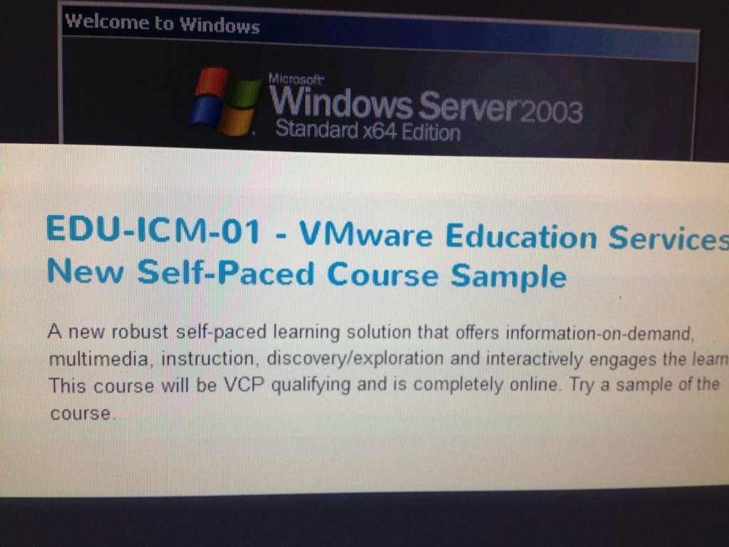 End of vcp class requirement vmware may authorize self paced of course xflitez Images