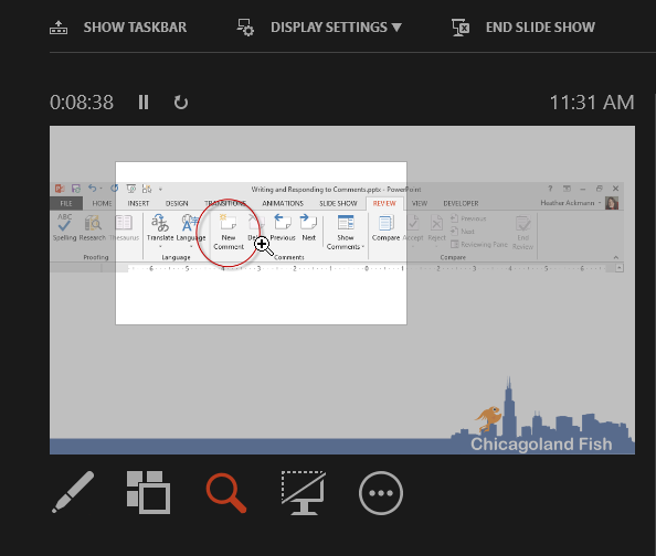 how to use presenter view in powerpoint 2013