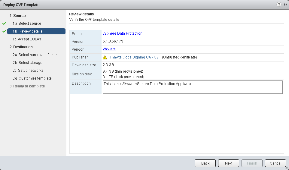 New vSphere 5 1 backups: Install and Configure VMware VDP | Pluralsight