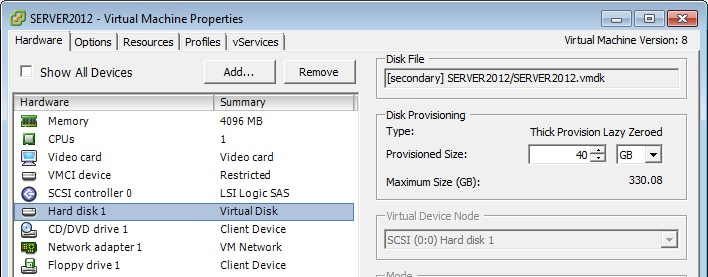 Give me my space: How to resize Windows Server drives in VMware