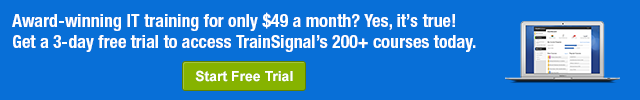 TrainSignal trial