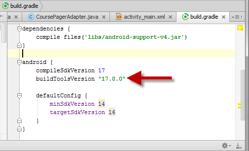 Android Studio 0 4 5 breaks existing builds, here's the fix