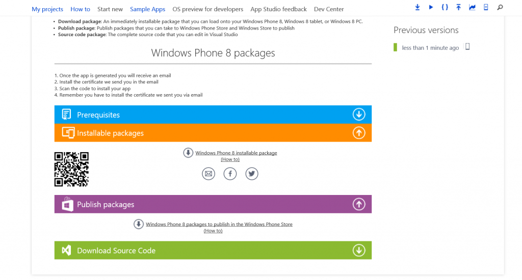 Taking Windows Phone apps from App Studio to Visual Studio