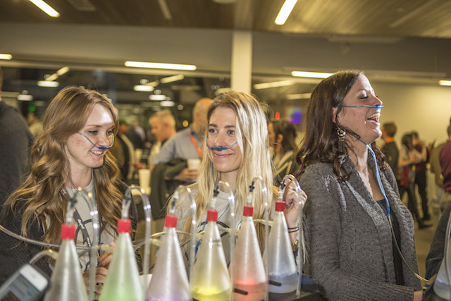 Flavored oxygen bar to get the brain power going!