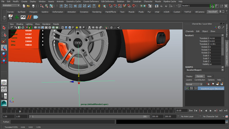 Snapping to Tire Vertex on the Y Axis