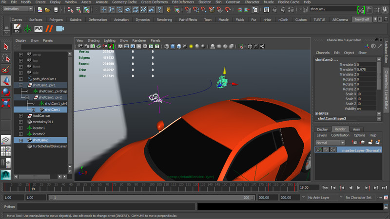 Importing a Maya Camera and Locators into After Effects - For 2D and