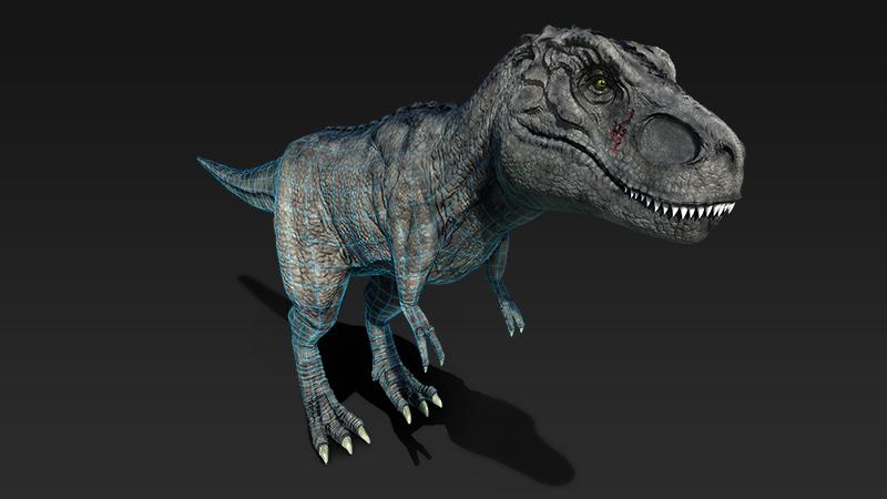 Ptex 3d tyrannosaurus rex