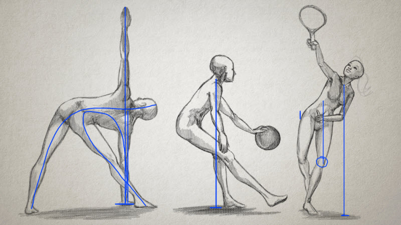 sketch drawings of the human form in various positions