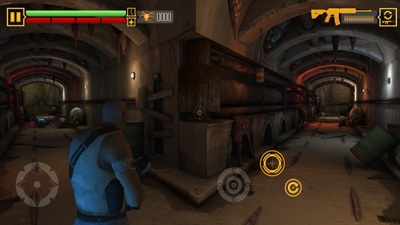 traditional HUD Heads Up Display on a first person shooter game