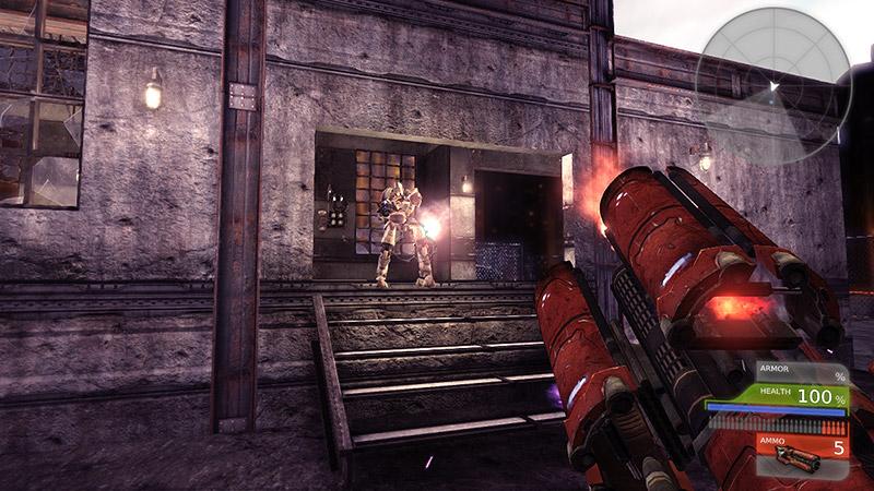first person shooter video game futuristic gun