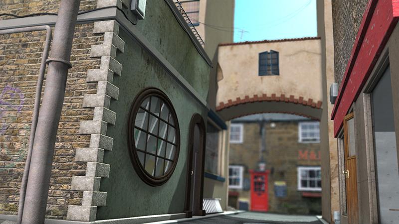 3d model environment of a city street