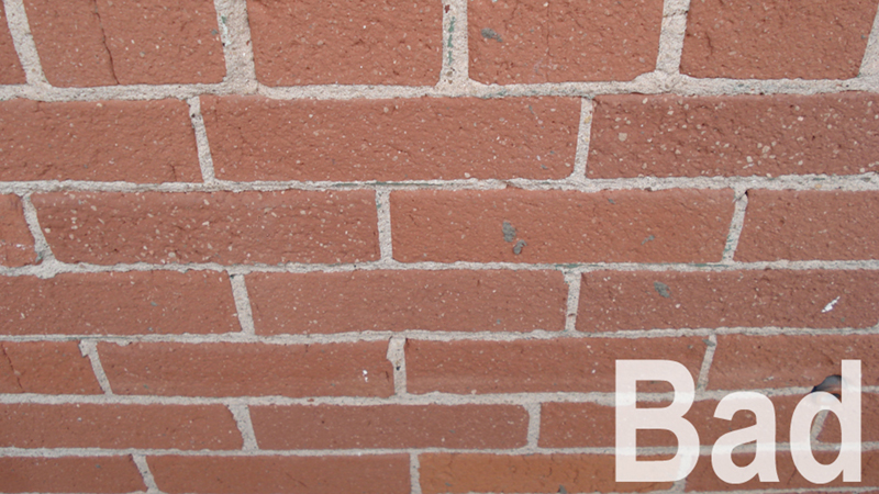 Bad angle of brick wall seamless texture photo