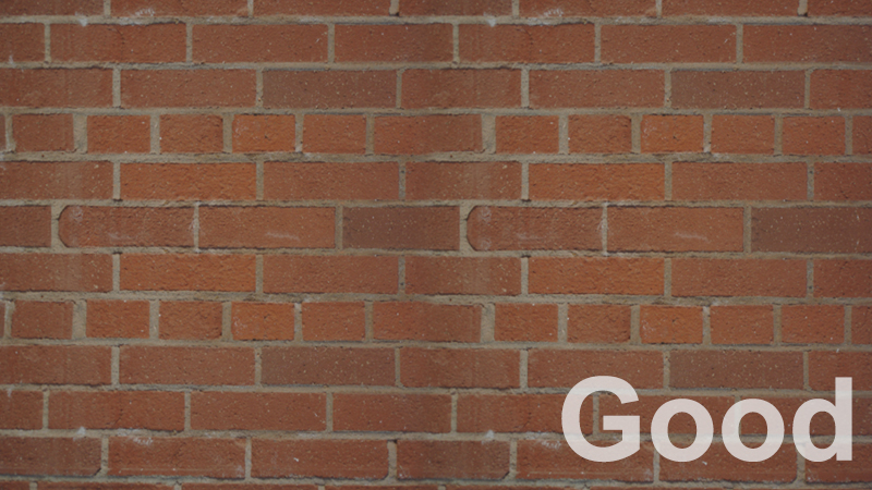 Good angle of brick wall seamless texture photo