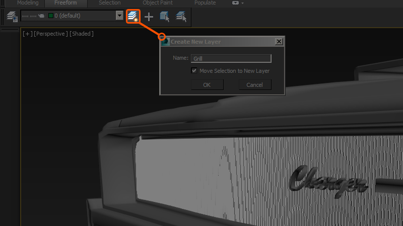 how to create a floating bar in 3ds max