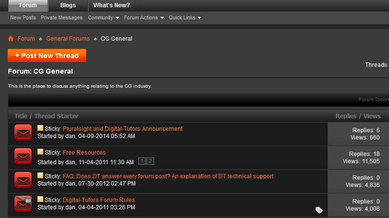screenshot of a forum platform